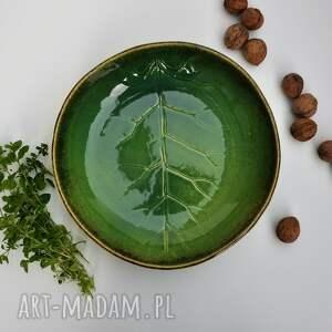 frapujące ceramika misa liść