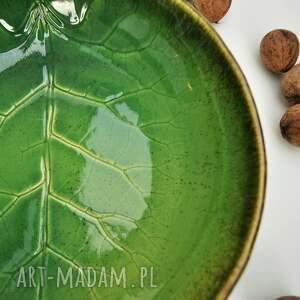 ceramika liść misa
