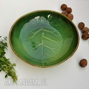 ceramika zielone misa liść