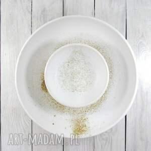 zestaw ceramika misa, misy 2szt - nakrapiana