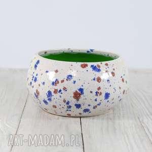 ręczne wykonanie ceramika miseczka misa w plamki
