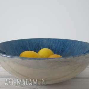 miska ceramika misa z granatowym środkiem