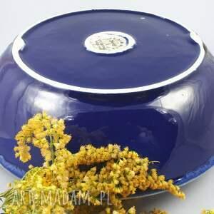 niebieskie ceramika bolesławiec misa z uszami archipelag