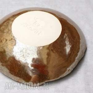 brązowe ceramika żyrafa misa