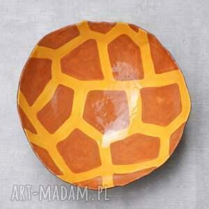 misa ceramika pomarańczowe żyrafa