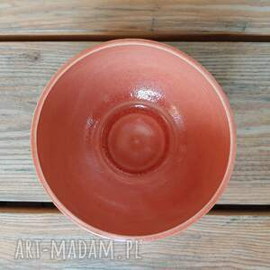 czerwone ceramika misa miseczka brązowo czerwona