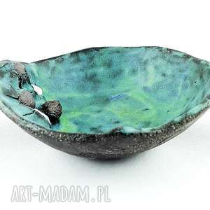 turkusowe ceramika miska miseczka ceramiczna - kamienie