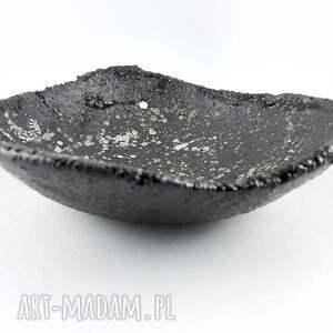 czarne ceramika miska miseczka ceramiczna