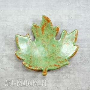 ceramika miseczka liść klonu