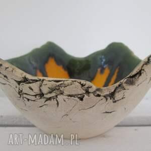 zielone ceramika miska jak skała miseczka magiczna