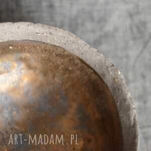 szare ceramika rustykalne miseczka na bakalie