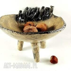 trendy ceramika patera miseczka na nóżkach