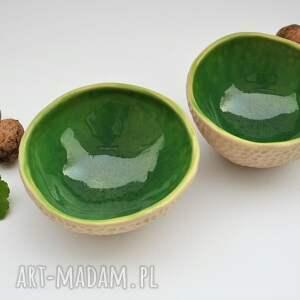 zielone ceramika miseczki ceramiczne fakturowane