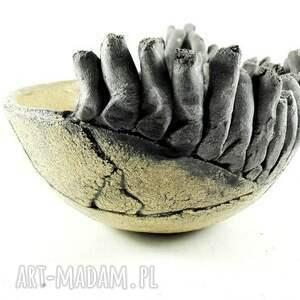 poLEPIONE beżowe ceramika dekoracja miska ceramiczna z kolekcji morskiej