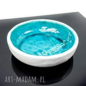 półmisek ceramika miska minimal turkus płaska