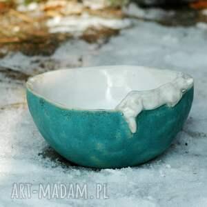 eleganckie ceramika miska salaterka z figurką kota