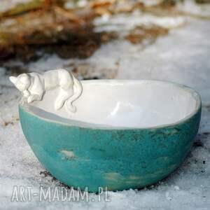 miseczka ceramika miska salaterka z figurką kota