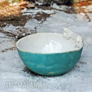 eleganckie ceramika miseczka miska salaterka z figurką kota