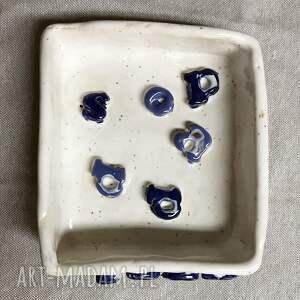 modne ceramika ceramiczna mydelniczka mydlany alfabet