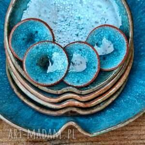 niebieskie ceramika ocean zestaw naczyń ceramicznych