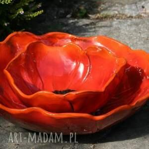 ceramika: ognisty mak - ceramiczna misa l - mak mak