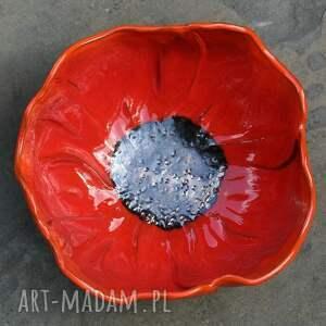 Kamelo ceramika: ognisty mak - ceramiczna misa l - mak