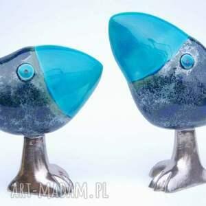 niebieskie ceramika ptaki oto szdoki