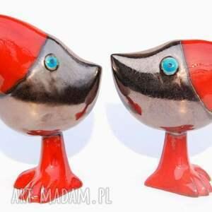 czerwone ceramika ptaki oto szdoki