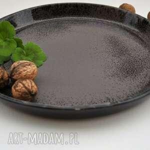 czarne ceramika patera ceramiczna - taca - talerz