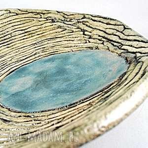 ceramika: Patera ceramiczna - wstążka - Ręczne wykonanie dekoracja