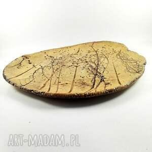 brązowe ceramika sztuka patera ceramiczna