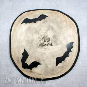 czarne ceramika dynia patera ceramiczna