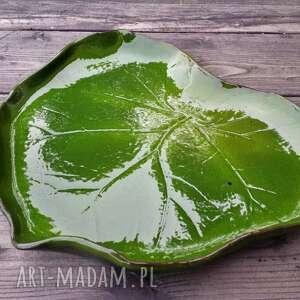 gustowne ceramika patera ceramiczna liść