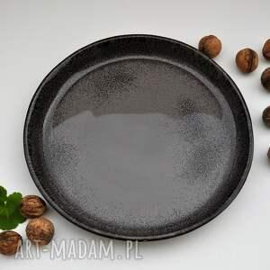 ceramika szare patera ceramiczna - taca - talerz