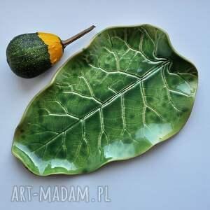 zielone ceramika patera dekoracyjna talerz