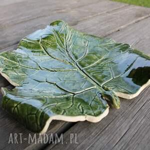 ceramika patera liść rzepaku