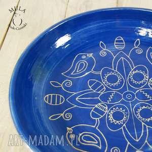 unikatowe ceramika cukierki patera - misa sgraffito wielkanoc