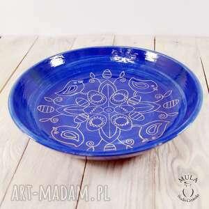 owoce ceramika patera - misa sgraffito wielkanoc