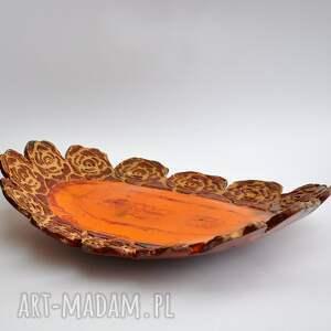 ceramika patera różana