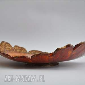 pomarańczowe ceramika patera różana