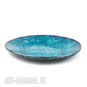 artlantyda handmade ceramika patera xl - turkusowe esyfloresy