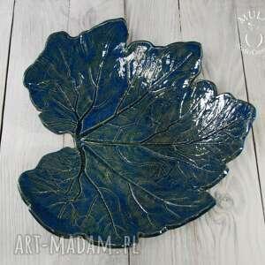 ręcznie robione ceramika patera patra liść