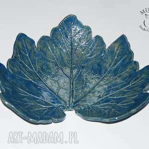 ceramika patera patra liść