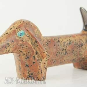 modne ceramika pies na biżuterię