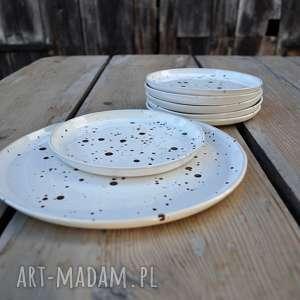 ręcznie zrobione ceramika talerze zestaw talerzy - talerz deserowy