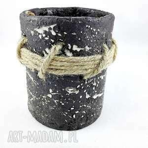 beżowe ceramika pojemnik ceramiczny