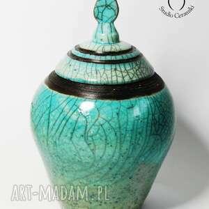 hand-made ceramika raku pojemnik