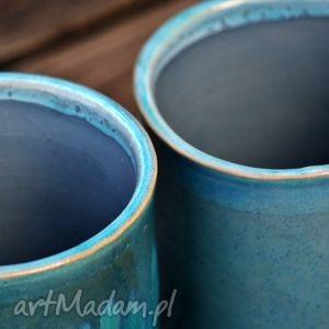 pojemnik ceramika turkusowe pojemniki ceramiczne 2szt.