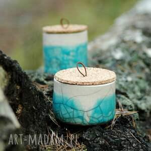 handmade ceramika pojemniki ceramiczne 2 szt. |