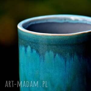 niebieskie ceramika organizer pojemniki ceramiczne 2szt.